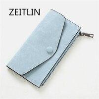 ZEITLIN Brand PU Leather Wallet Ladies Coin Purse 2018 Summer New Korean Handbag Slim Frosted Envelopes