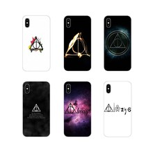 TPU Transparent Cover Harry Potter Deathly Hallows logo For Huawei P8 9 Lite Nova 2i 3i GR3 Y6 Pro Y7 Y8 Y9 Prime 2017 2018 2019(China)