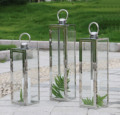 Thick stainless steel Lantern Outdoor Portable Candlestick modern minimalist Hotel Beach Party special