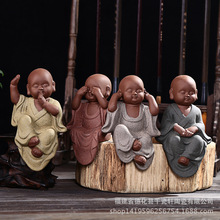 Root Carving Ceramic Arts And Crafts Four Little Monks Creative Gifts Home Match Club Root Carving Furnishing Articles цены