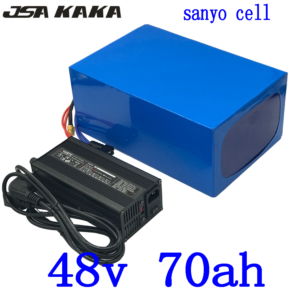 48V 2000W 3000W 4000W battery 48V 70AH Electric Bike battery use sanyo cell 48V 70AH electric scooter battery 48V Lithium batter