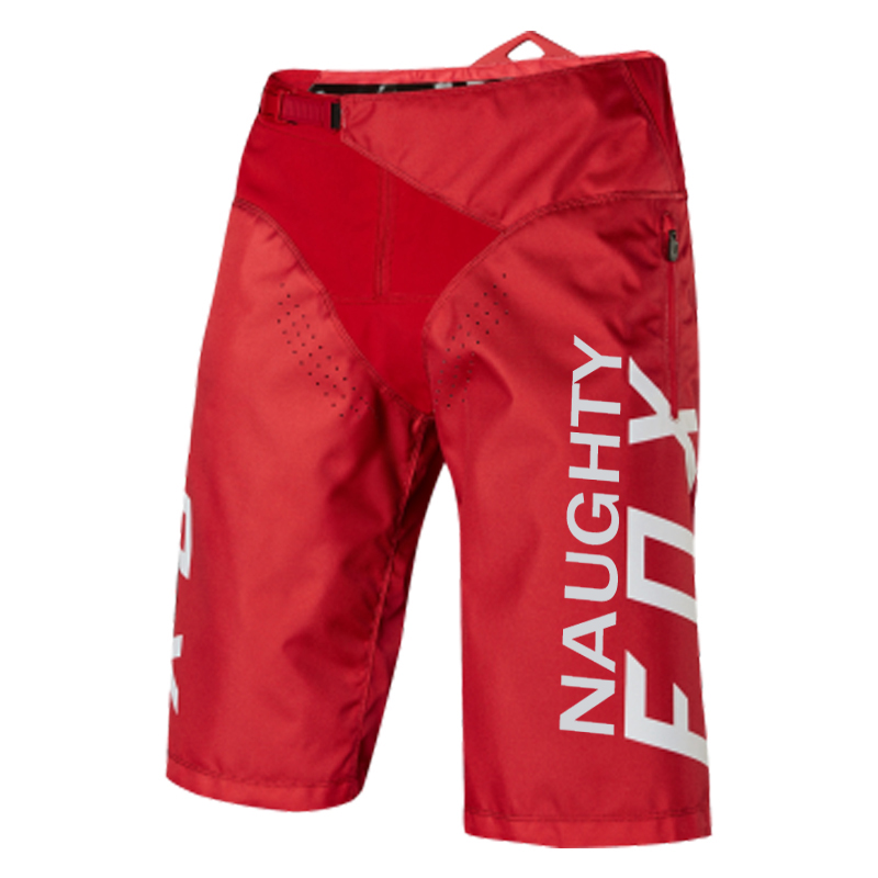 NAUGHTY FOX MX Red DEMO DH   Shorts   Mountain Dirt Bike Racing Pants MTB BMX Sports Riding Breathable Motocross Bicycle   Shorts
