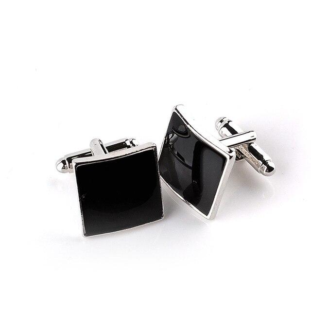 Classic Black Square Quality Cufflinks