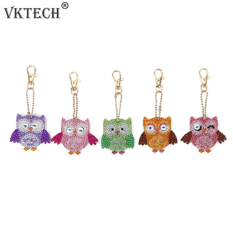 5pcs Keychain DIY Bird Full Drill Special Shaped Diamond Painting Pendant Keyring Shining Rhinestones Embroidery Cross Stitch5pcs Keychain DIY Bird Full Drill Special Shaped Diamond Painting Pendant Keyring Shining Rhinestones Embroidery Cross Stitch