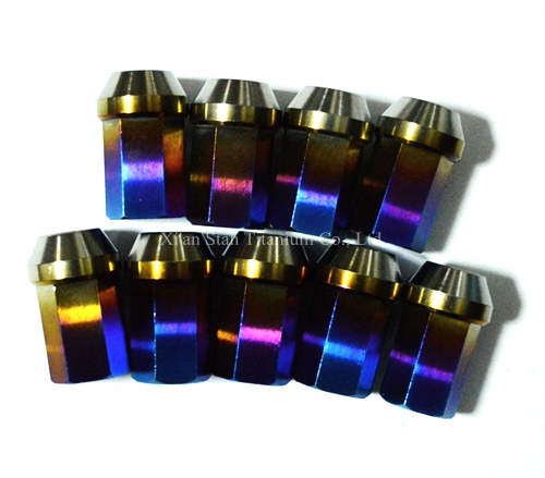20pcs/lot Titanium TC4 Car Wheel Rim Bulge Acorn 40mm Extended 17mm Subtense Hex Lug Nuts  M12*1.25 / M12*1.5 Anti-lose Design titanium tc4 car wheel bolts complete stud racing conversion kit lug nuts 12 x 1 5 x 45mm 12 x 1 25 x 45mm