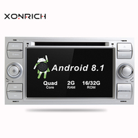 Car Multimedia Player 2Din Car Radio GPS Android 8.1 32GROM For Ford Focus 2 Mondeo 4 C Max S Max Ford Fiesta Kuga Fusion Galaxy