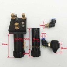 El envío gratuito! alta calidad cabezal de corte láser de CO2 para el cortador grabador láser máquina de grabado de corte por láser cabeza