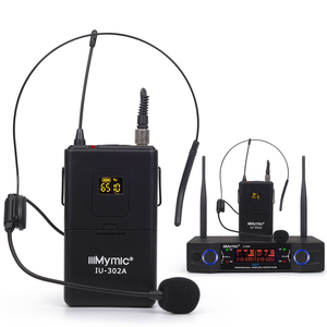 Image 4 - IU 302A Professional UHF 600 700MHz Dual Channel(Single frequency) 2Bodypack+2Lapel+2Headset Wireless Microphone Mic System