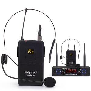 Image 4 - IU 302A المهنية UHF 600 700MHz ثنائي القناة (تردد واحد) 2Bodypack 2 التلبيب 2 سماعة ميكروفون لاسلكي