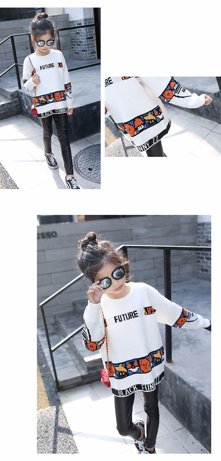 loose knitted sweater girls winter autumn spring 2017 new white character knitting teenage little girls sweaters and pullovers 6 7 8 9 10 11 12 13 14 15 16 years old little teenage big girl sweaters for kids (13)