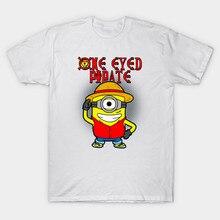 2017 Newest Brand Clothing One Piece Alola Chopper Print Men T Shirt Short O-Neck Minions One Eyed Pirat Design T-Shirt Cool Top