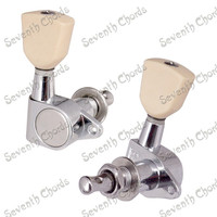 A Set Lvory Yellow Trapezoid Button Sealed Gear String Tuners Tuning Pegs Keys Machine Heads For