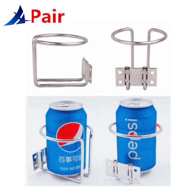 2X Stainless Steel Ring Cup Drink Holder Opened Marine Yacht Boat With Screws Boat Accessories Marine