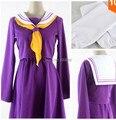 Новый бесплатная доставка в жизни нет игры нет жизни косплей костюм Nogemu Noraifu сиро каваи девушки форма сейлор платье