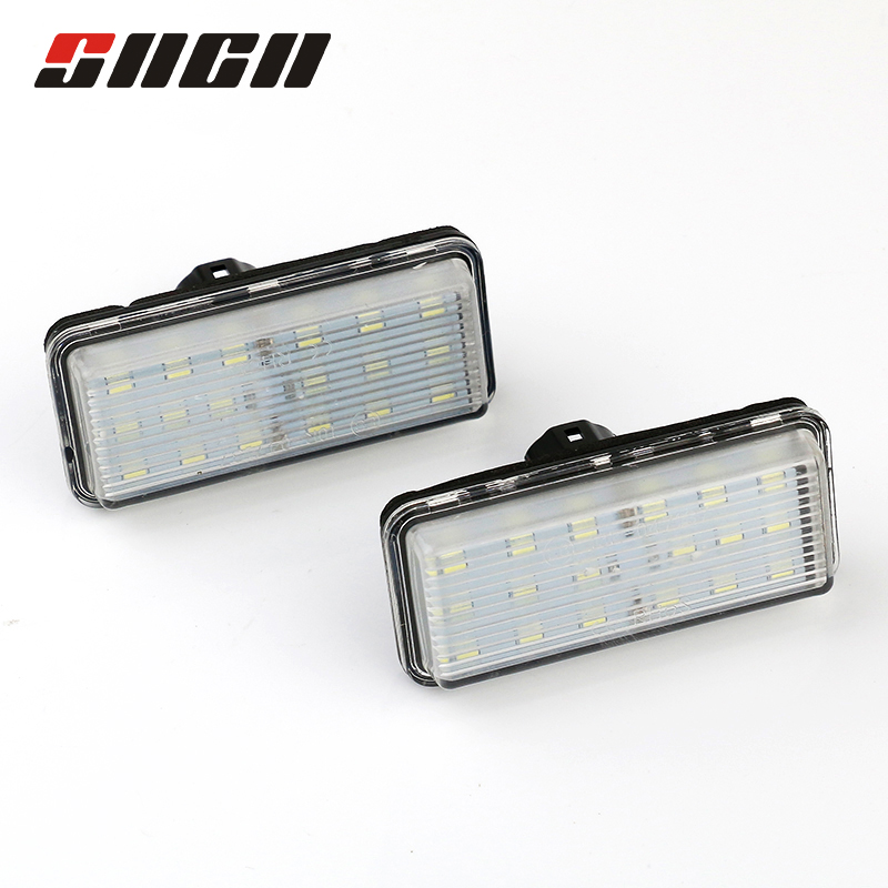 SNCN 2pcs License Plate Light LED Car Rear Number Lamp Auto Bulbs For Toyota Land Cruiser 120 200 Prado Lexus GX470 No Error Toyota Land Cruiser