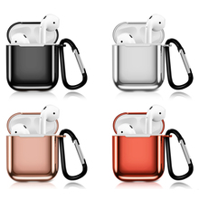 New Airpods case Electroplated TPU protection box Apple wireless headset portable anti-drop dustproof storage box Airpods2 box