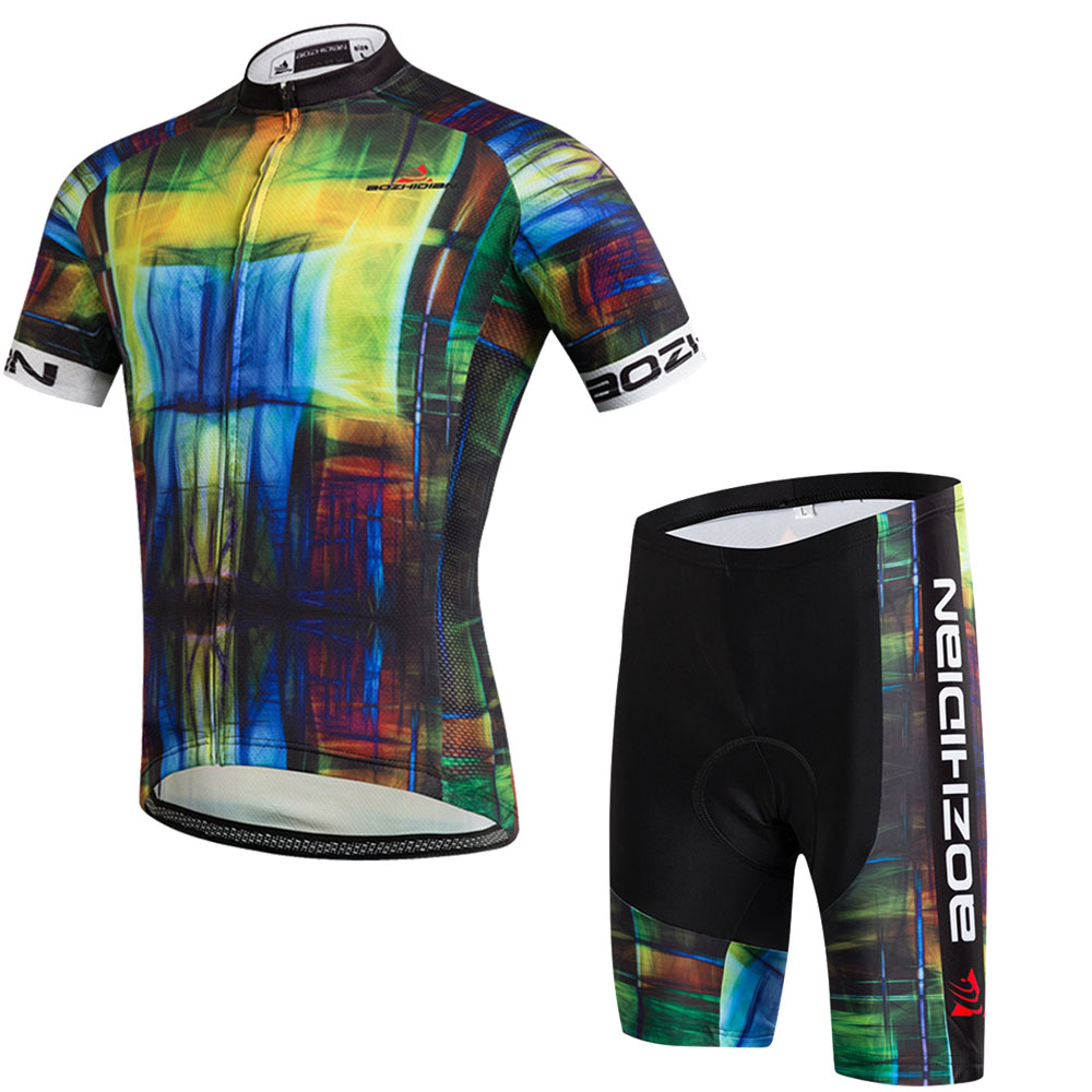 Maillot Cycling Clothing Suit Mens Maillot Ciclismo Cycling Jersey & Bike Shorts Kit Cycling Set Equipe Bicycle Clothing