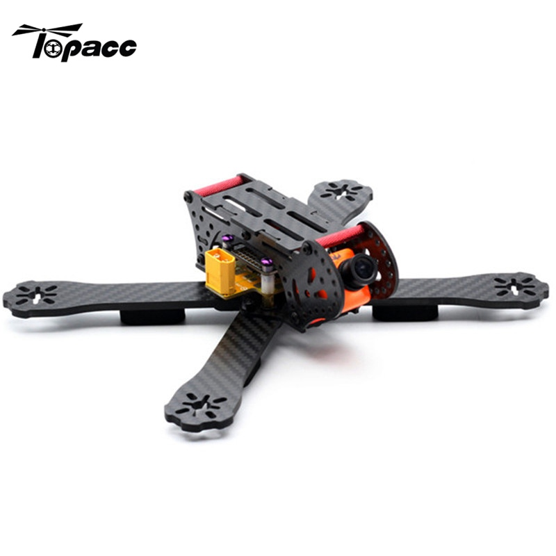 2017 New 220mm Wheelbase 3K Carbon Fiber Racing Frame Kit 4mm Arm with PDB Board for Racing Racer RC Drones FPV Quadcopter Toys