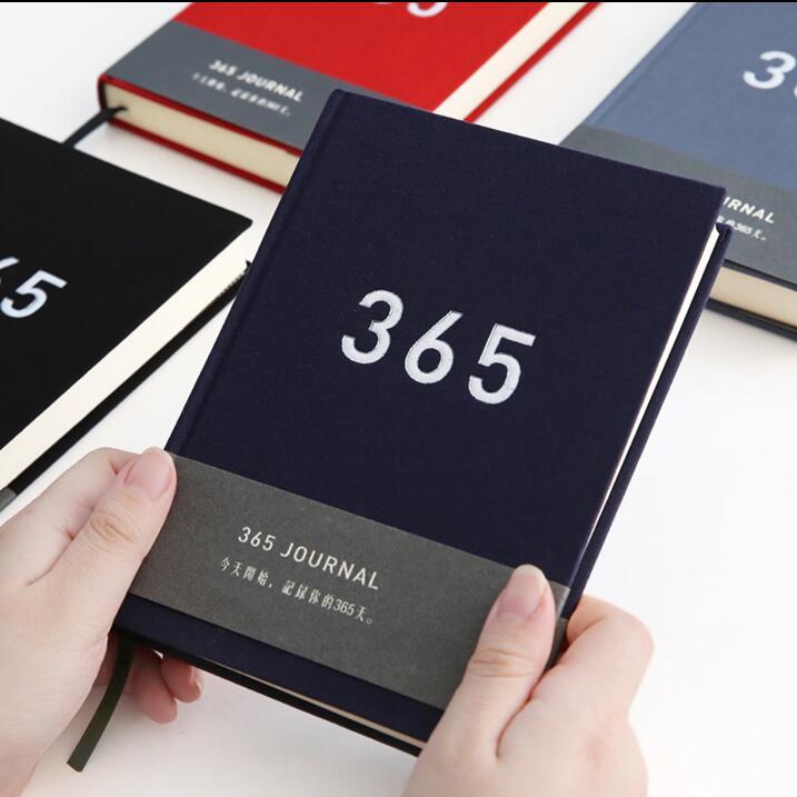 """""""लाइक 365"""" स्टडी जर्नल वर्किंग डायरी लाइनेड ब्लैंक पेपर्स नोटबुक फैब्रिक कवर स्टेशनरी गिफ्ट"""