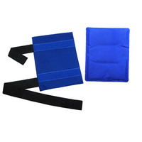 Flexible Gel Ice Pack Wrap with Elastic Straps Therapy for Muscle Pain Bruises Injuries FI 19ING