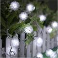 Luminaria 6 M 40 lâmpadas LED 3 * AA Bateria LED String Natal Pingente Luz Pompom Casamento Festa Em Casa de Jardim decoração