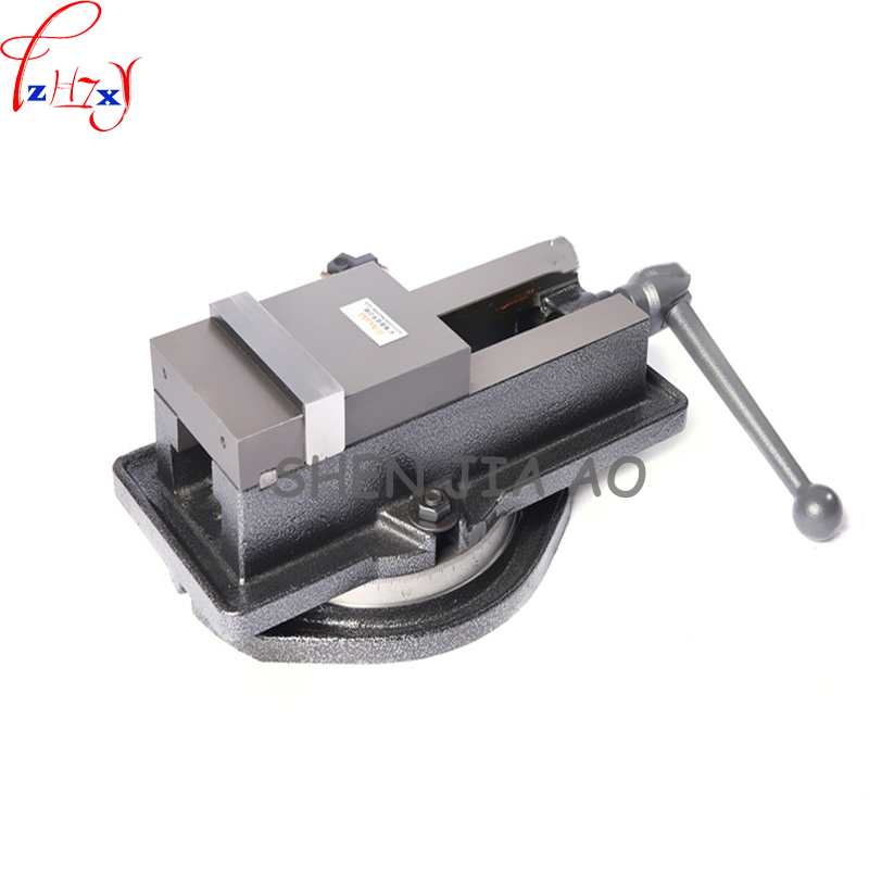1pc Manual Angle type flat nose clamp 360 degree rotating precision heavy duty vise 5 inch milling machine clamp
