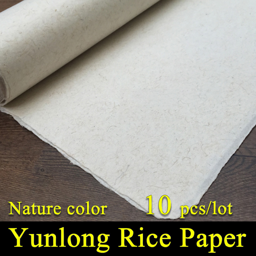 Chinese Painting Rice Paper Calligraphy Drawing Paper Handmade Fiber Xuan Paper Yunlong Mulberry Paper