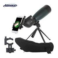 AOMEKIE 20 60X80 Зрительная труба зум Охота оптика HD Кемпинг наблюдение за птицами Монокуляр телескоп FMC объектив с телефона адаптер