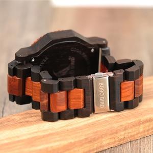 Image 3 - 51mm Big Size Men Watch BOBO BIRD relogio masculino Wooden Quartz Top Luxury Watches for Dad Gift reloj mujer Accept Logo