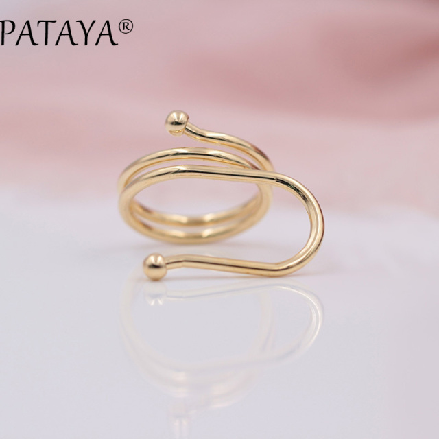 new silver high womens diamond store girls product cz rings opening ring bamboo accessories fashion double spiral texture grade