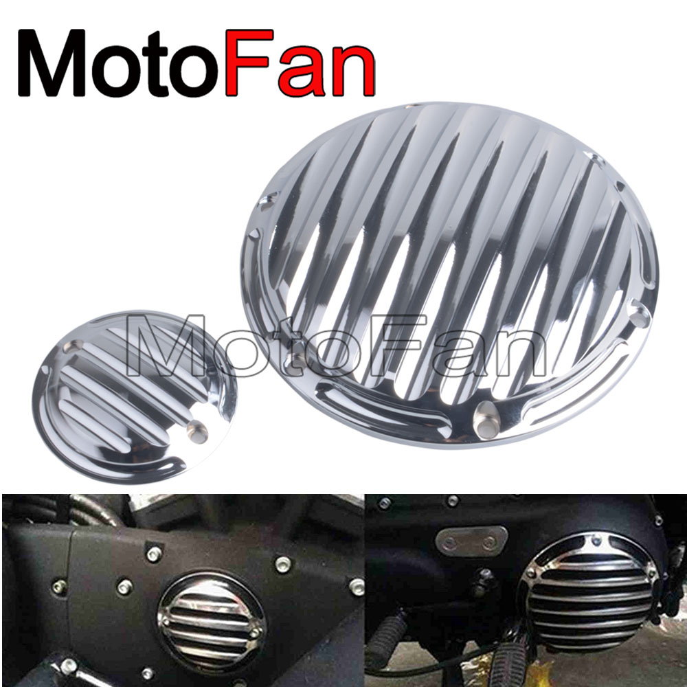 Motorcycle Custom Derby Timer Cover Timing Covers Chrome for Harley Davidson Sportster 883 XLH883 Roadster XL883R Low XL883L motorcycle accessories engine decorative cover motorbike engine cover for harley davidson 2006 sportster 1200 roadster xl1200r