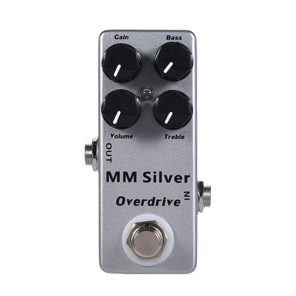 MOSKY MM Silver Electric Guitar Overdrive Effect Pedal Full Metal Shell True Bypass wacken metal overdrive