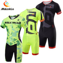 Pro Team Triathlon Suit Men's Cycling Jersey Skinsuit Jumpsuit Maillot Cycling C