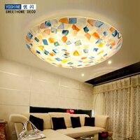 Mediterranean Sea lamp shell lighting European style living room garden style LED bedroom lamp warm restaurant lamps