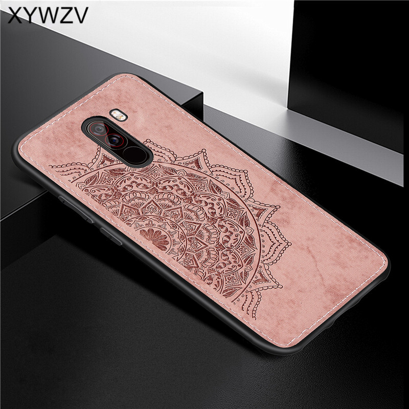 Image 5 - Xiaomi Pocophone F1 Case Soft TPU Silicone Cloth Texture Hard PC Phone Case For Xiaomi Pocophone F1 Cover Xiaomi Pocophone F1-in Fitted Cases from Cellphones & Telecommunications
