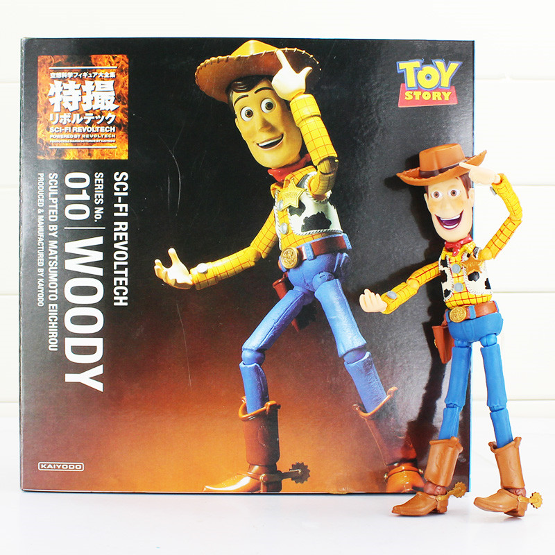New Arrival Toy Story Series Speical NO.010 Sci-Fi Revoltech Woody PVC Model Action Figure Doll For Children Free Shipping free shipping toy story 3 sheriff woody posable figure retail box t 020