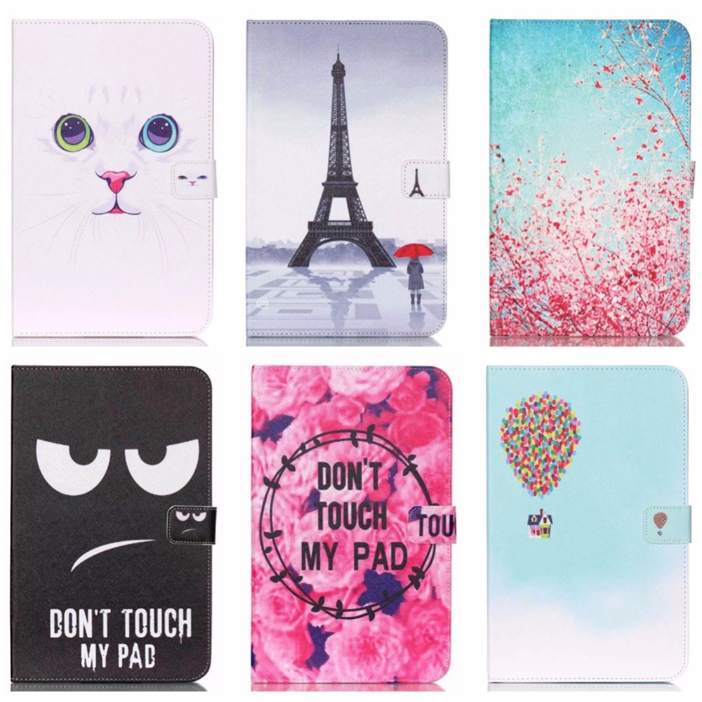 New Lovely Pattern Wallet Flip PU Leather cover case for Samsung Galaxy Tab E 9.6 T560 T561 SM-T560 Tablet Shell Protector Funda ipsdi hf208 earphones dre dre earphone go pro earphone little audifonos girl earbuds with mic