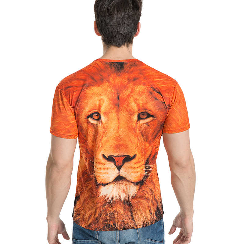 BIANYILONG брендовая одежда 2017 новая мода для мужчин/wo мужчин Harajuku Хип Хоп Лев 3d принт летние топы футболки Размер M-5XL