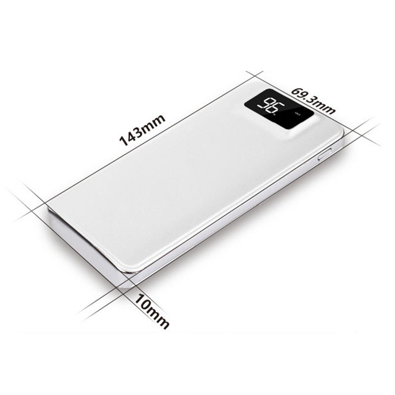 Slim 000 mAh Power Bank Portable Ultra-thin Polymer Powerbank battery power-bank With LED Light Fast Charger for Mobile Phone 8