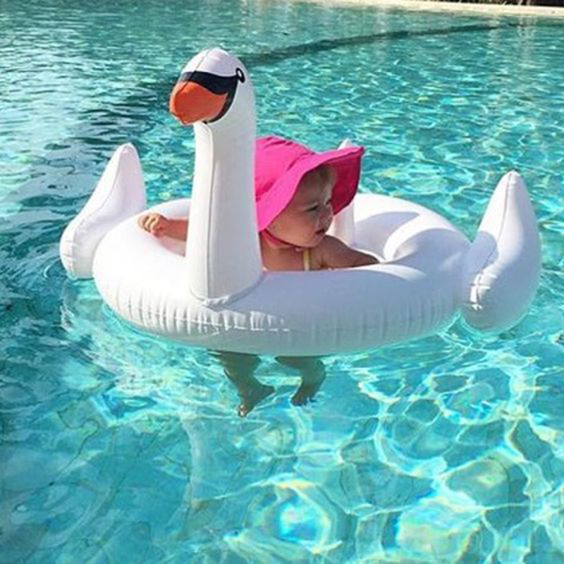 Hot Sale 70cm Baby Swan Inflatable Flamingo Ride On Pool Toy Float Swim Ring Holiday Water Fun Toys In Swimming Rings From Sports