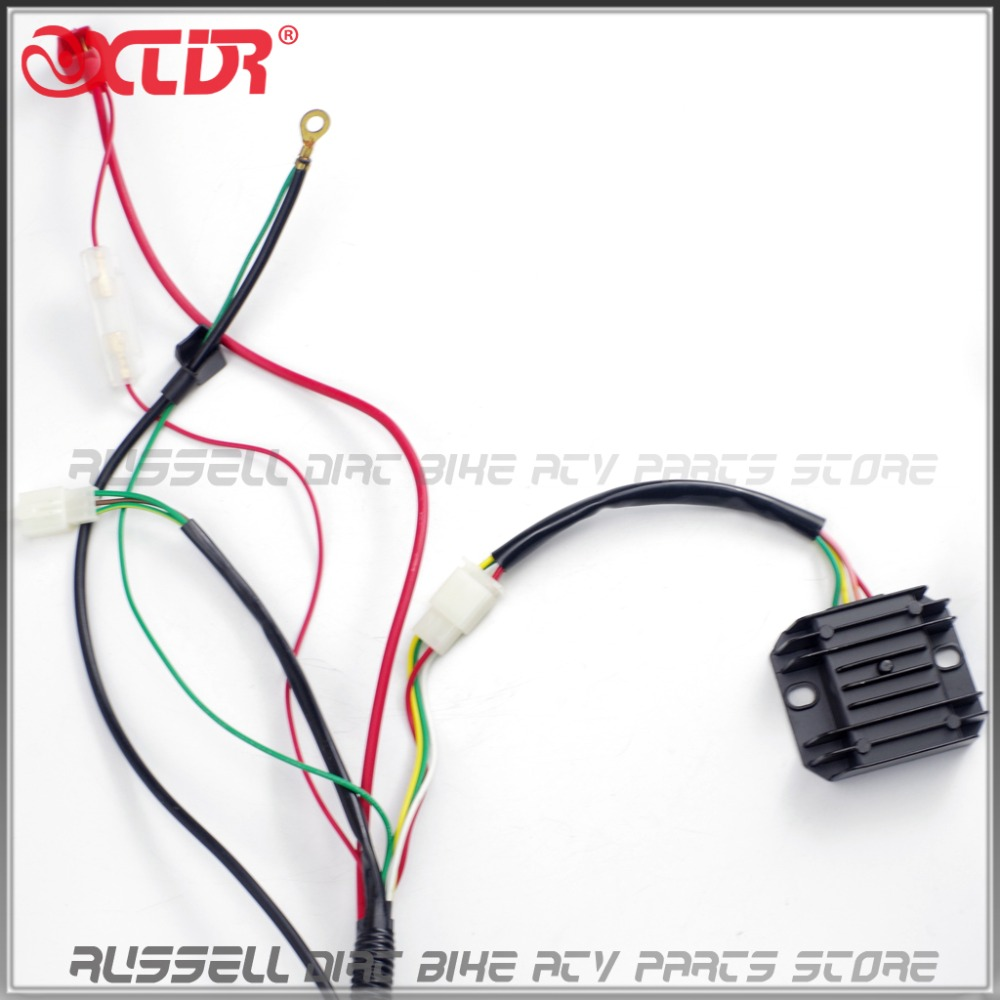gy6 150cc complete full wiring harness cable wire ignition coil cdi rh aliexpress com gy6 cdi wiring harness gy6 dc cdi wiring