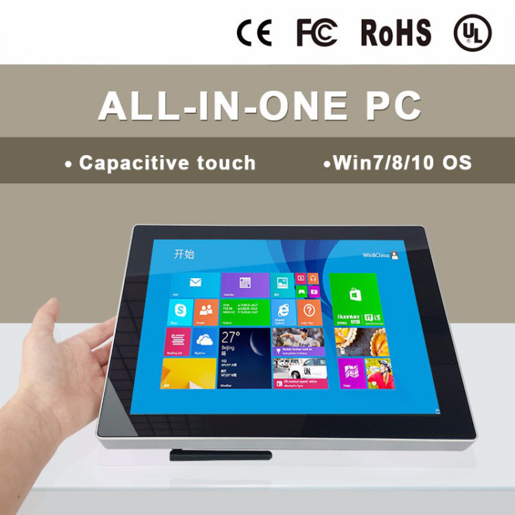 China factory direct sale 12  inch all in one mini pc computers with touchscreen/1024*768/Windows 7 or 10