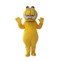 High Quality Garfield mascot fursuit cat Mascot Costume Carnival fancy Dress Adult Size Free Shipping