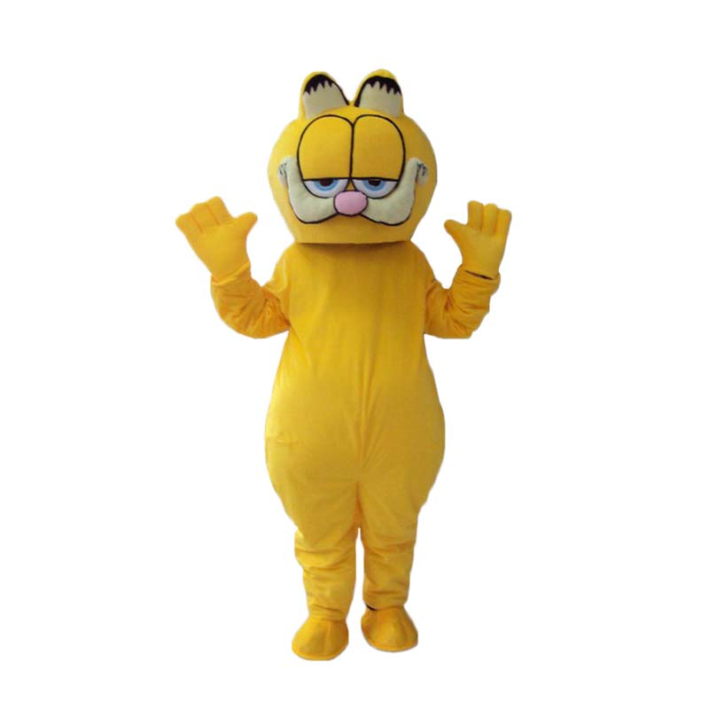 Vysoká kvalita Garfield maskot fursuit kočka Mascot Kostým Karneval ozdobný Oblečení pro dospělé Doprava zdarma