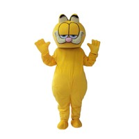 High Quality Garfield mascot fursuit cat Mascot Costume Carnival fancy Dress Adult Size Free Shipping