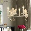 Современные хрустальные люстры с ангелом для гостиной свет современный лампы освещения из светодиодов подвеска