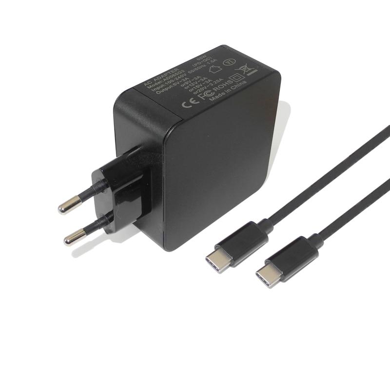 Universel 65 w 5-20 v USB Type C Portable Mobile Téléphone Puissance Adaptateur pour Macbook Pro 12 13 dell XPS 12 PD Chargeur pour Xiaomi Air