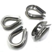Tono argento M18 304 In Acciaio Inox Anello di Filo Zincato Cable Wire Rope Thimble Winch confezione da 4