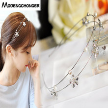 New Arrival For Women Sweet Hairbands Alloy Rhinestone Double Layer Hair Bezel Headband Hoop Fashion Girl Accessories
