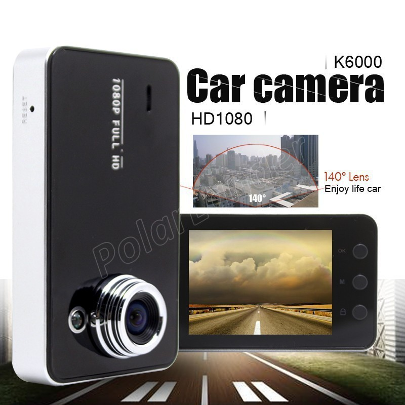 NEW <font><b>Car</b></font> <font><b>DVR</b></font> <font><b>K6000</b></font> HD Driving Data Recorder Camcorder Vehicle Camera With 90 Degree Angle View Black image